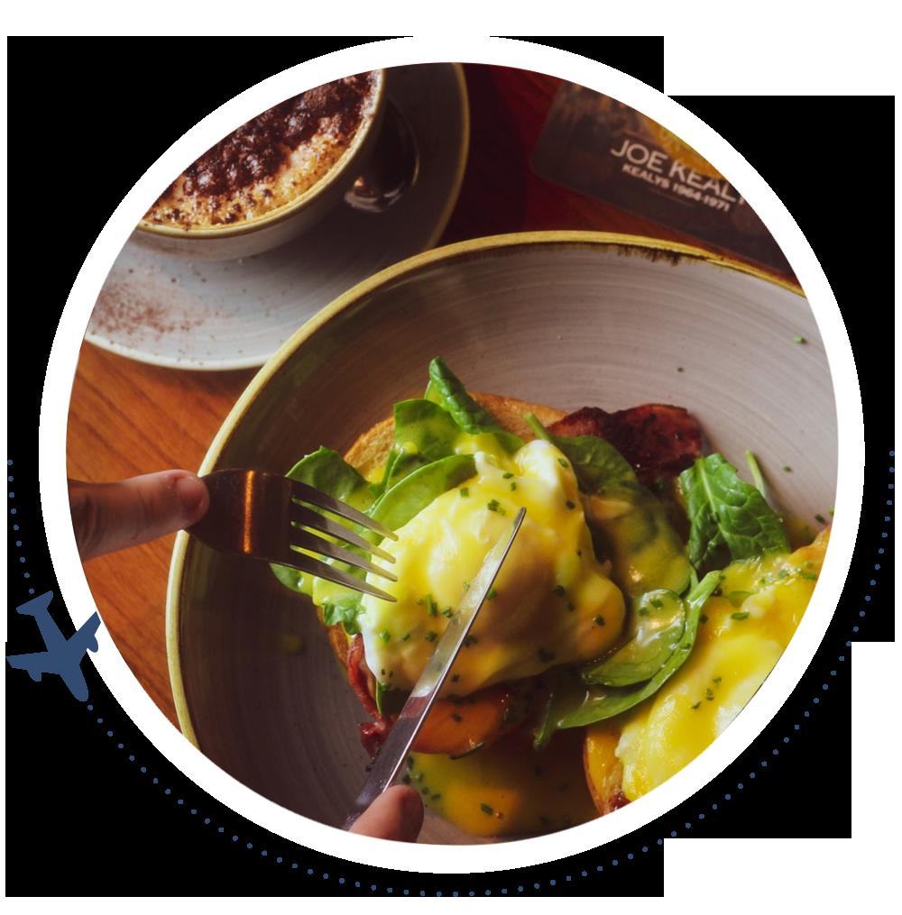 Kealys breakfast menu breakfast rolls and eggs benedict